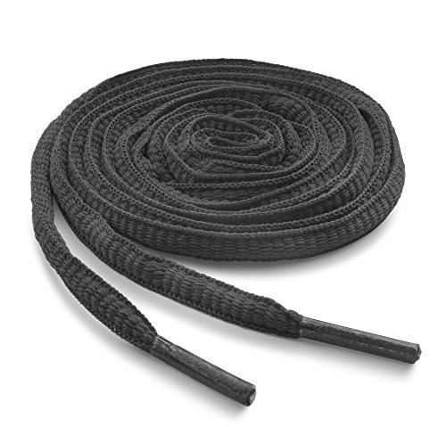 OrthoStep Oval Athletic Dark Grey 45 inch Shoelaces 2 Pair Pack ()