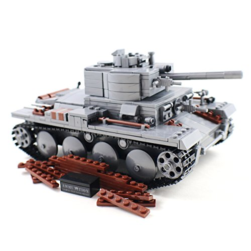 [German Army Light Tank - Panzer II Military Building Block Model by Shantou Blocks] (German Army Tank)