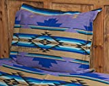 Mission Del Rey's Western Chevron Bedding Collection -Purple Sage (Pillow Sham 24''x28'')