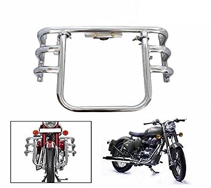 Spedy Bike Safety Leg Guard Chrome Royal Enfield Bullet 500 Amazon