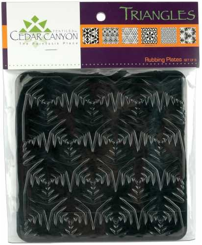 Cedar Canyon Rubbing Plates Triangles 6Ct by Cedar Canyon