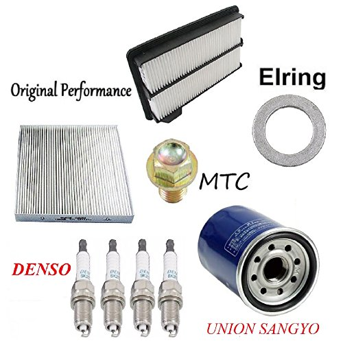 Tune Up Kit Air Oil Filters Plugs for Honda CivicSi; MUGEN Si; 2.0L; K20Z3 Eng.; DOHC; Gas; V-Tec 2008