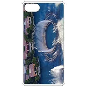 Diy Yourself Bellagion Fountains 2 Image White Apple iPhone 5 5s - iPhone 5 5s cell phone case cover - Cover felWePZNByP