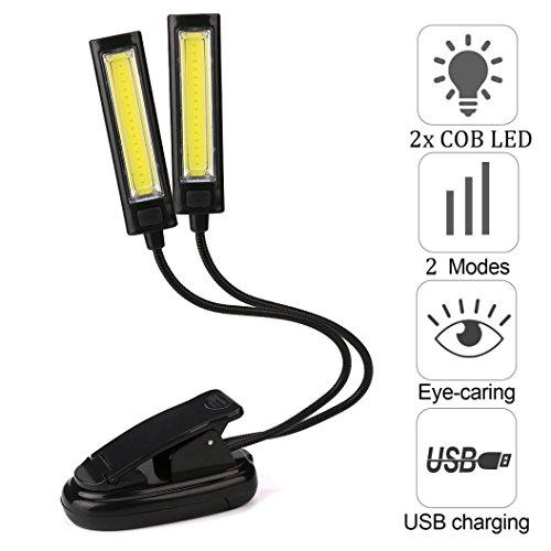 Flexible USB Rechargeable Light } { Clip-On 2x COB LED Light } { Reading Study Desk Table Lamp Light } Bedroom Home Decor (45 Led Light Strand)