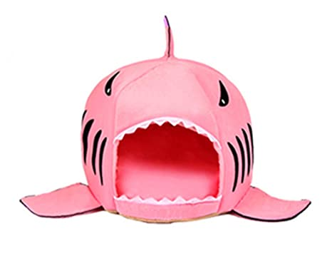 Xiaoyu Moda tiburón Cama para Mascotas Creativo Felpudo de Gato para Animales pequeños y Perritos durmiendo