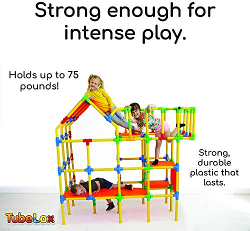 Tubelox Deluxe Building Set – The Ultimate Kids STEM Toy Set – Create Anything – Supports Kids Weight for Endless…