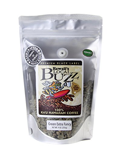 Hawaii's Specific Buzz Premium Black Label Extra Fancy, Green (Unroasted) Beans, 9 Ounce