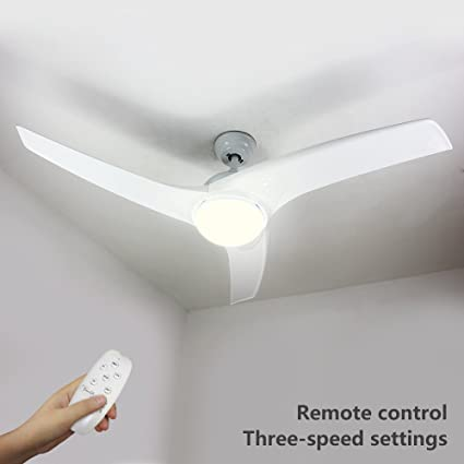 Natsen 52 Led Semi Flush Mount Ceiling Fan Lighting With Remote
