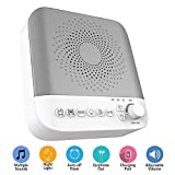 White Noise Machine for Sleeping, Portable Sleep Sound Machine for Home, Office, Travel with17 Soothing Sounds & Adjustable Nightlight for Tinnitus Sufferer, Light-Sleeper
