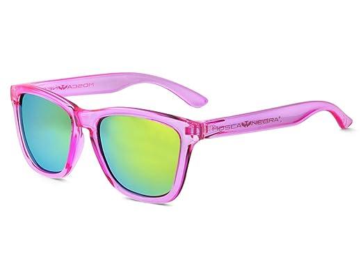 Gafas de sol MOSCA NEGRA modelo ALPHA TRANSPARENT PINK - Polarizadas