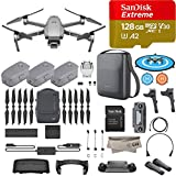 2018 DJI Mavic 2 Pro Drone Quadcopter Plus Fly More Combo Kit, Hasselblad Camera HDR Video, with 3 Batteries, 128GB Micro SD, Landing Gear & Pad, Prop Holder, Stick Protector, Extra Carrying Case