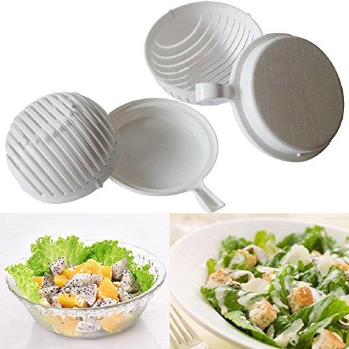 Ikevan 60 Seconds Salad Maker Healthy Fresh Salads Made Easy Salad Cutter Bowl