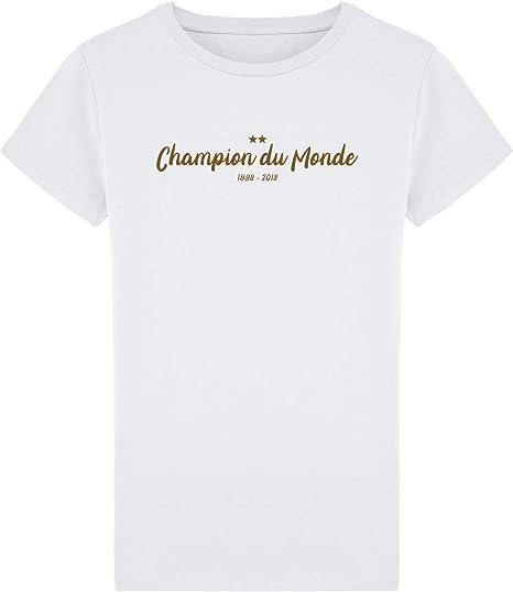 parcourir les dernières collections avant-garde de l'époque clair et distinctif Tee Shirt Homme Coupe du Monde Champion du Monde 1998 2018 ...
