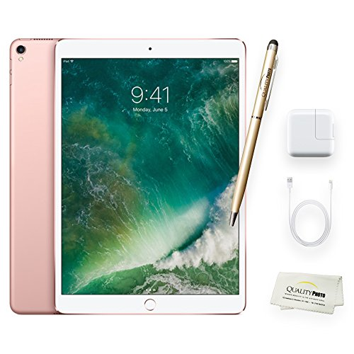 Apple iPad Pro 10.5 Inch Wi-Fi 64GB Rose Gold + Quality Photo Accessories (Latest Apple Tablet) 2017 Model.. by Quality photo
