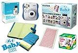 Fuji Instax Mini 25 Limited Version 1 Year Instax Baby Set Blue + 50 Films + Album + 365 Stickers Fuji Instax