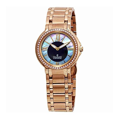 Charmex Malibu Crystal Mother of Pearl Dial Ladies Watch 6423