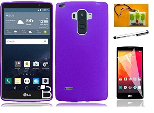 LG G Stylus / LG G Stylo / LG LS770 (T-Mobile/Boost Mobile/Sprint), LF 4 in  1 Bundle, TPU Flexible Soft Gel Cover Case, Stylus Pen, Screen Protector &