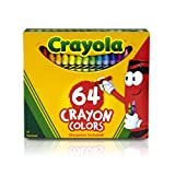 Crayola 64-Count Crayons,  School and Craft Supplies, Gift for Boys and Girls, Kids, Ages 3,4, 5, 6 and Up, Holiday Toys, Stocking Stuffers, Arts and Crafts