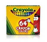 Crayola 64-Count Crayons, School and Craft Supplies, Gift for Boys and Girls, Kids, Ages 3,4, 5, 6 and Up, Back to school, School supplies, Arts and Crafts,  Gifting
