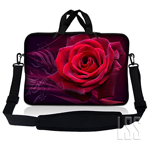 LSS 17 inch Laptop Sleeve Bag Carrying Case Pouch w/ Handle & Adjustable Shoulder Strap for 17.4