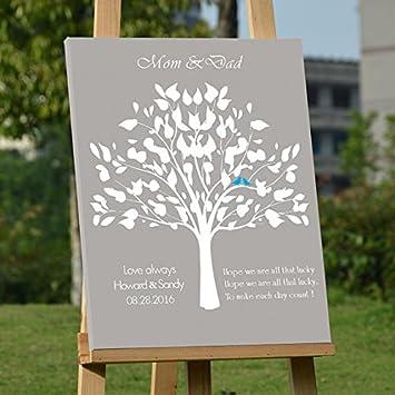 b62e0dc13098 personnalisé cadeau de mariage personnalisé Mariage livre d apos or Arbre  Alternative personnalisé Imprimé Cadeau pour