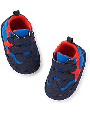 Carters Baby Boys Retro Blue Sneaker 3-6M