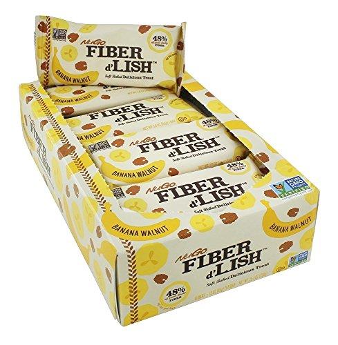 NuGo Fiber d'Lish Soft Baked Delicious Treat Banana Walnut Bars – 16 CT
