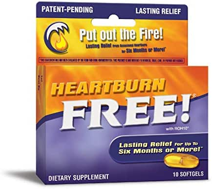 Nature's Way Heartburn Free w/ROH10® Lasting Relief, 10 Softgels