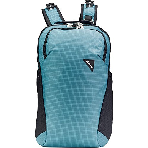 Pacsafe Vibe 20 Liter Anti Theft Travel Daypack- Fits 13 Inch Laptop, Hydro Blue