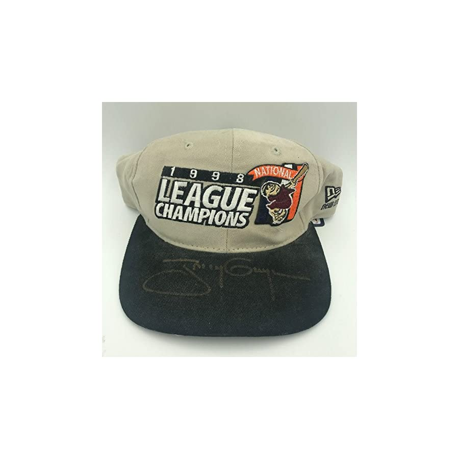 Rare Tony Gwynn Signed 1998 National League Champions San Diego Padres Hat PSA/DNA Certified Autographed Hats