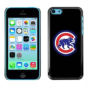 ROKK CASES / Apple Iphone 5C / CUB SPORT / Delgado Negro Plástico caso cubierta Shell Armor Funda Case Cover