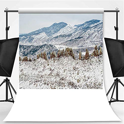 Devils Backbone Panorama Photography Background,157114 for Television,Pictorial Cloth:5x7ft