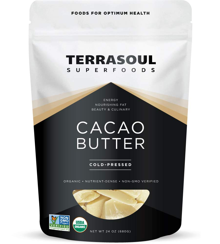 Terrasoul Superfoods Organic Cacao Butter, 1.5 Lbs - Raw | Keto | Vegan | Unrefined…