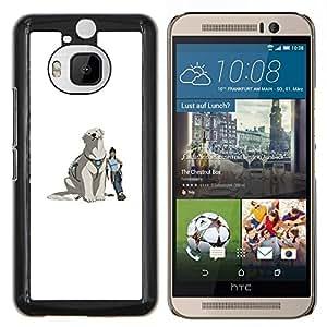 Stuss Case / Funda Carcasa protectora - Yeti perro - HTC One M9Plus M9+ M9 Plus