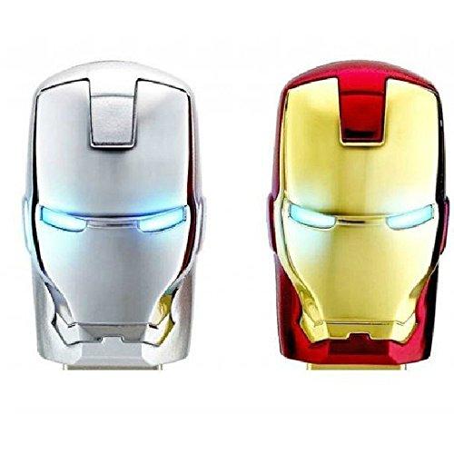 64g Iron Man Mask Style 64 Gb Cans Model USB 2.0 Enough Memory Stick Flash Pen Drive 64gb - White