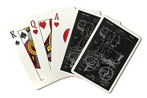 Blackboard Patent - Kitchen Mixer (Playing Card Deck - 52 Card Poker Size with Jokers) - Kitchen Bridge Mixer
