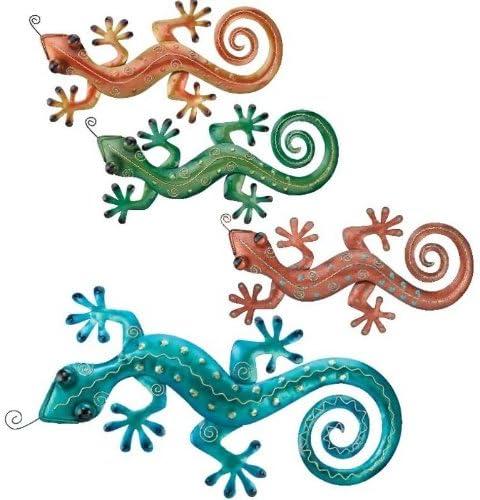 Regal Art Gift Gecko Wall Decor, 31-Inch, Blue