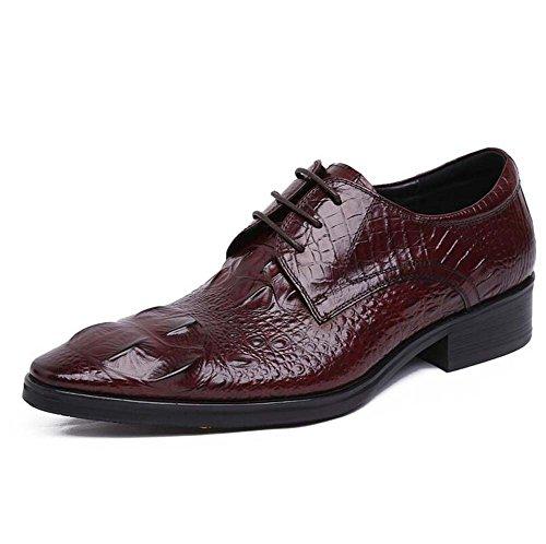 Ambiente Zapatos de Zapatos Tamaño en Punta Marrón Color con Vestir Hombre Zapatos Relieve Moda Boda 42 de de Nuevo 7qgwgFz