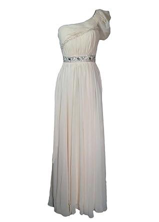 Y Fashion One Shoulder Chiffon Womens Prom Formal Dress Bridesmaid Evening Gown 9065-
