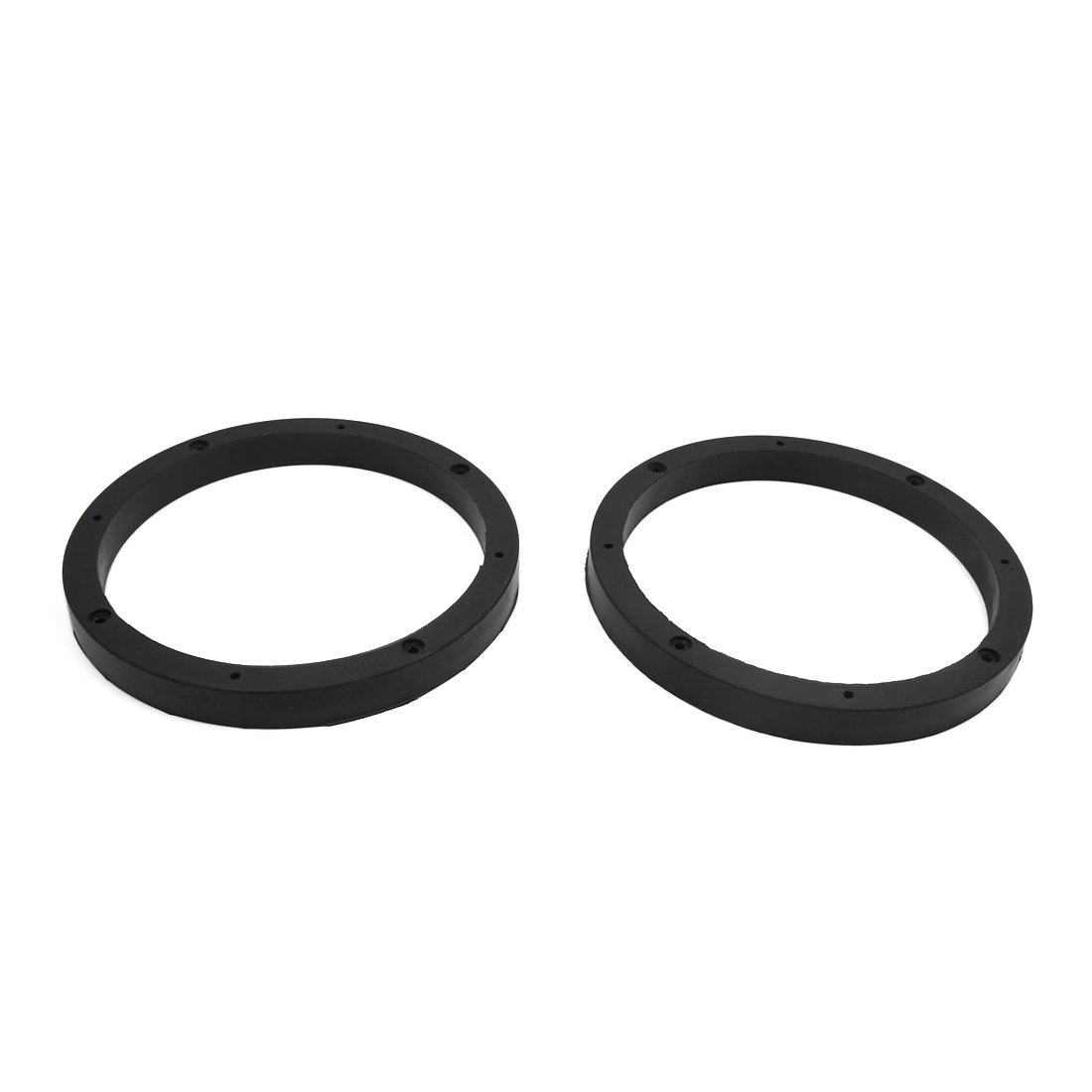 uxcell 2pcs Universal Black 6.8'' Car Stereo Audio Speaker Mounting Spacer Rings Bracket