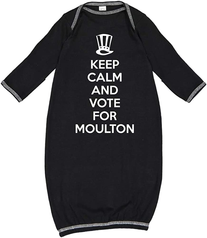 Mashed Clothing Keep Calm /& Vote for Moulton Presidential Election 2020 Baby Cotton Sleeper Gown