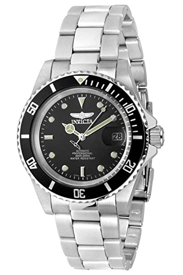 Invicta Mens 8926OB Pro Diver Stainless Steel Automatic Watch with Link Bracelet