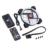 Asixx PC Cooling Fan, 12cm RGB Cooling Fan PC 33CFM 1100-1800RPM Powerful Wind-Force 20000-hour Life Computer Fan(1 Fan)