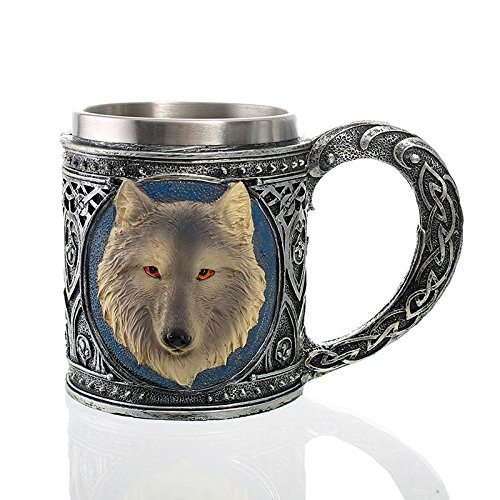 Taza 1 Light - DHmart Moscow Mule Wolf Mug Double Wall Taza Pokemon Coffee Cup Tea Canecas AS A Gift for Christmas Easter Halloween Thanksgiving