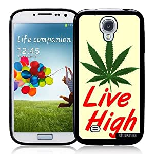 Cool Painting Galaxy S4 Case - S IV Case - Shawnex Live High Weed Hipster Quote Samsung Galaxy i9500 Case Snap On Case