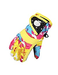 Windproof Winter Snowboarding Cold Weather Gloves Warm Mittens For Kids