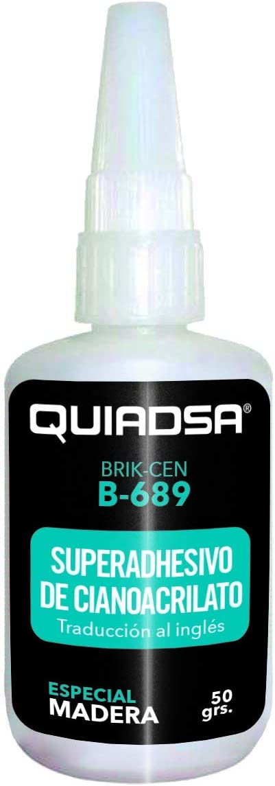 50 gr Quiadsa 53302002 Adhesivo de Cianoacrilato Tipo Gel
