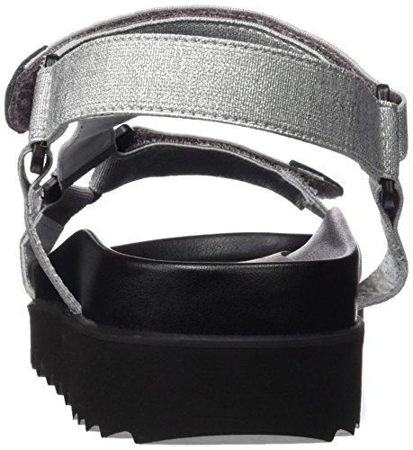 Sixtyseven 77402 - Zapatos de vestir para mujer Multicolor (Plateado/Negro)