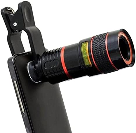 JYR Universal Smartphone Telescopio Teleobjetivo Kit de Lentes 8x ...