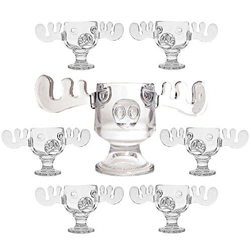christmas vacation glass moose mug punch bowl set w set of 6 moose mugs by